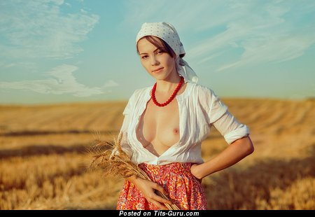 Ксюша Егорова - Marvelous Topless Blonde Girlfriend & Babe with Marvelous Exposed Natural Average Jugs & Big Nipples (Hd Sexual Image)