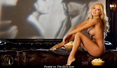Image. Naked blonde with big tits image