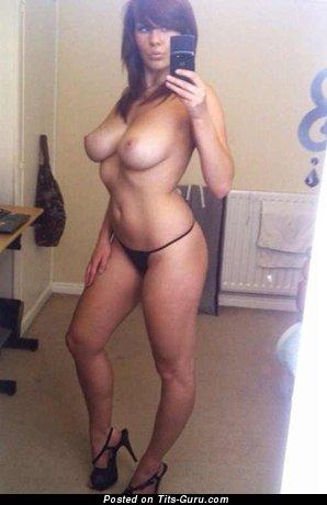 Image. Amateur nude brunette with medium natural boobs selfie