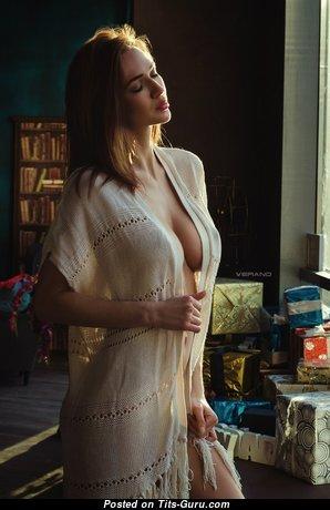 Anastasia Martzipanova - Elegant Non-Nude Russian Brunette Babe with Sexy Legs (Porn Image)