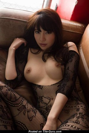 Image. Naked asian brunette with medium tittys photo