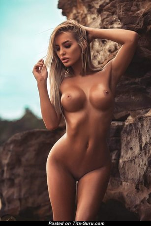 Lucie Jaid - Pretty Woman with Pretty Bare Round Fake Boobie is Undressing (Hd Sexual Image)