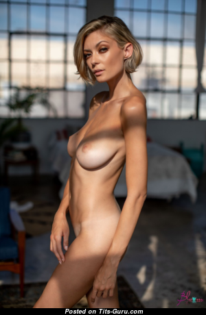 Anna Lisa Wagner - Handsome Topless Doxy with Handsome Bald Natural D Size Boobie (Hd Porn Photo)