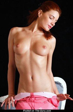 Image. Naked nice female with medium natural tits image