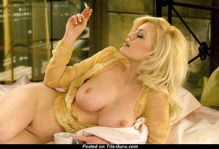 Crystal Beddows - Handsome Canadian Blonde with Handsome Bald Real Breasts is Smoking (Xxx Image)