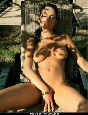 Yummy Babe with Yummy Naked Natural Tight Busts (Sexual Image)