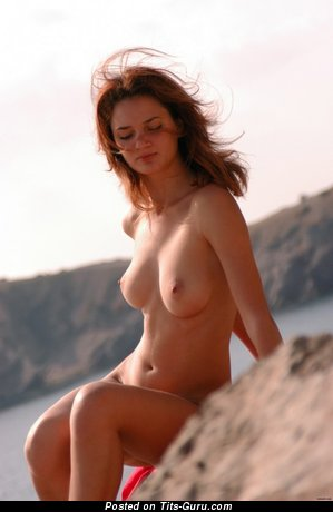 Image. Nude beautiful girl with natural boobs picture