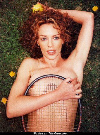 Kylie Minogue - Beautiful Blonde Babe with Beautiful Bare Natural Chest (Hd Sexual Foto)