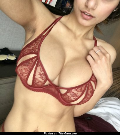 Mia Khalifa - Magnificent Lebanese Brunette Actress & Pornstar with Magnificent Exposed Big Sized Boobies in Lingerie (on Public Selfie Hd Sex Image)