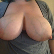 Amazing female with huge tits and big nipples pic
