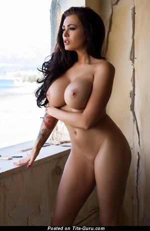 Image. Sexy nude wonderful woman with fake breast pic