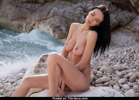 Anastasya - Alluring Brunette Babe with Alluring Bare Natural Dd Size Boob (Hd Sex Picture)
