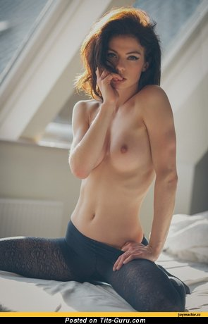 Image. Nude awesome lady with medium natural tits pic