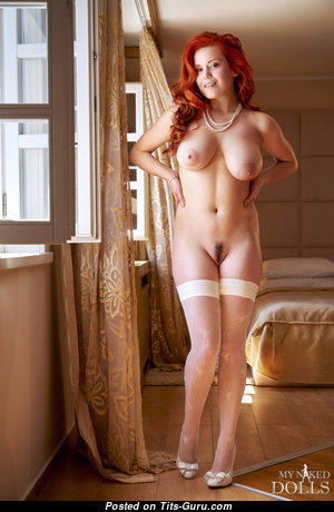 Lillith Von Titz - Gorgeous Russian Red Hair Babe with Superb Defenseless Real Mid Size Melons (Hd Sex Image)