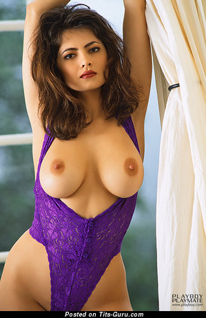 Angela Melini - Charming Vietnamese, American Playboy Brunette Babe with Charming Naked Natural Mid Size Tots (Sexual Photo)