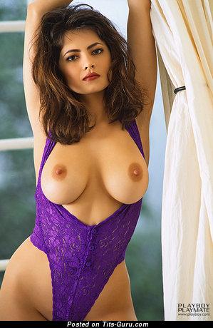Angela Melini - Elegant Vietnamese, American Playboy Brunette Babe with Elegant Open Natural Med Boobies (Porn Picture)