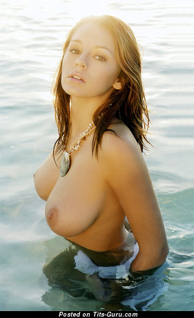 Keeley Hazell - nude brunette with medium natural breast picture