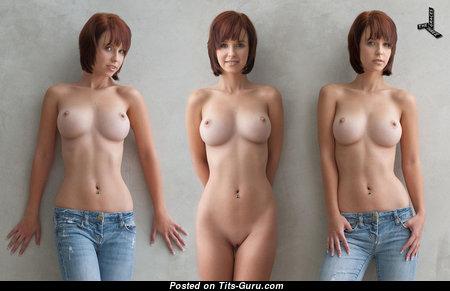 Hayden Winters: рыжая Playboy красотка, порнозвезда и девушка (США) с супер оголёнными средними цицьками,пирсингом, сексуальными ногами и тату (hd ню картинка)