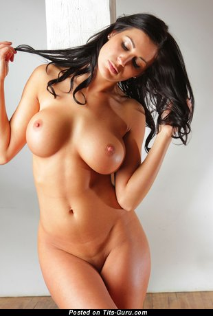 Image. Naked brunette with big tots picture