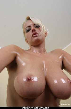 Arabella Bella - Magnificent Topless Blonde Babe with Magnificent Exposed G Size Melons & Pointy Nipples (Home Hd Sex Foto)