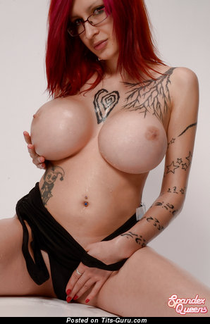 Ariane Saint Amour - Yummy Canadian Honey with Yummy Bare Round Fake Ddd Size Chest, Piercing & Tattoo (Hd Sex Photo)