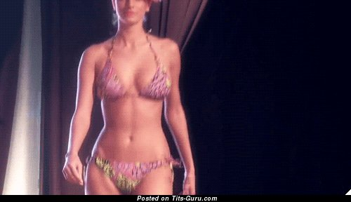 Naked awesome girl with medium natural tots gif