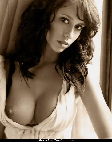 Good-Looking Brunette Babe with Good-Looking Exposed Natural Tight Boob & Puffy Nipples (Sexual Image)