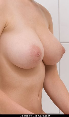 Nude awesome woman with medium natural boobs image