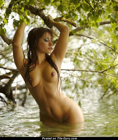 Image. Naked amazing girl with medium natural boobs photo
