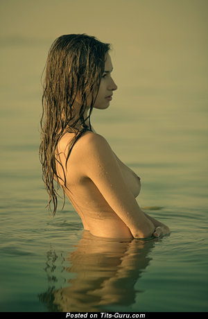 Image. Beautiful girl with medium natural boobs pic