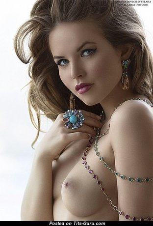 Superb Glamour Babe with Superb Exposed Real Soft Boobys & Weird Nipples (Sexual Image)