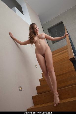 Image. Nude awesome woman with medium natural tots pic