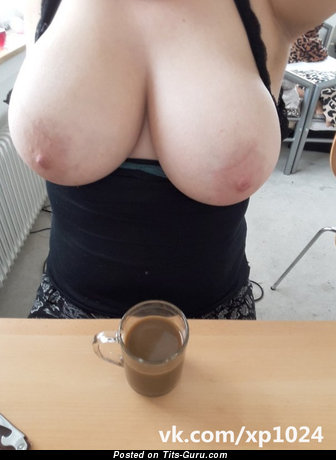 Sexy topless wonderful female with big natural tits and big nipples image