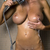 Wet hot girl with huge natural tittes picture