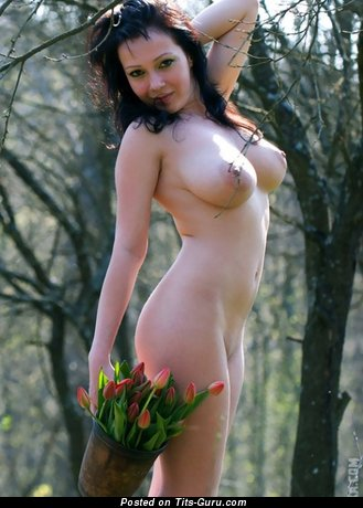 Delightful Female with Delightful Open Real Great Boobie (Sex Photo)