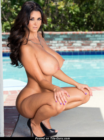 Ava Addams - The Best French, American Brunette Babe with The Best Nude Ddd Size Jugs (Hd 18+ Pic)