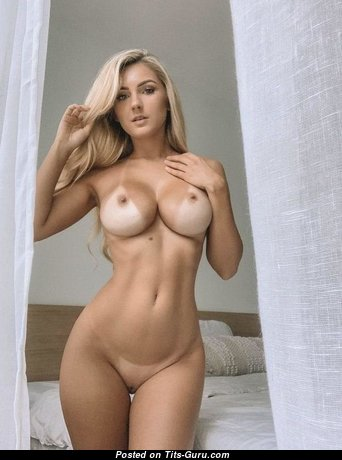 Adorable Blonde Babe with Adorable Nude Mid Size Titty (Sex Wallpaper)
