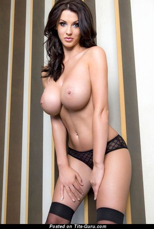 Image. Sexy naked brunette with medium breast picture