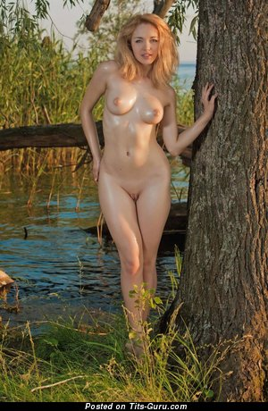 Image. Naked nice lady with medium natural tittys photo