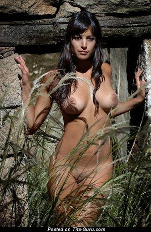 Image. Naked hot girl with medium natural boobies image