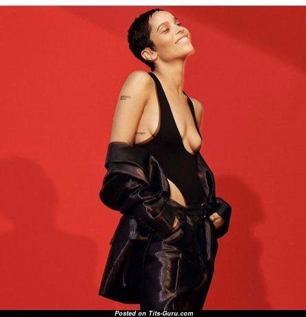 Zoe Kravitz - Gorgeous Non-Nude Brunette Actress & Babe with Gorgeous Real Titties & Tattoo (Xxx Pic)