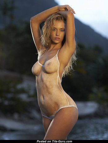 Hannah Ferguson - Alluring American Blonde with Alluring Open Natural Tittys (Xxx Image)