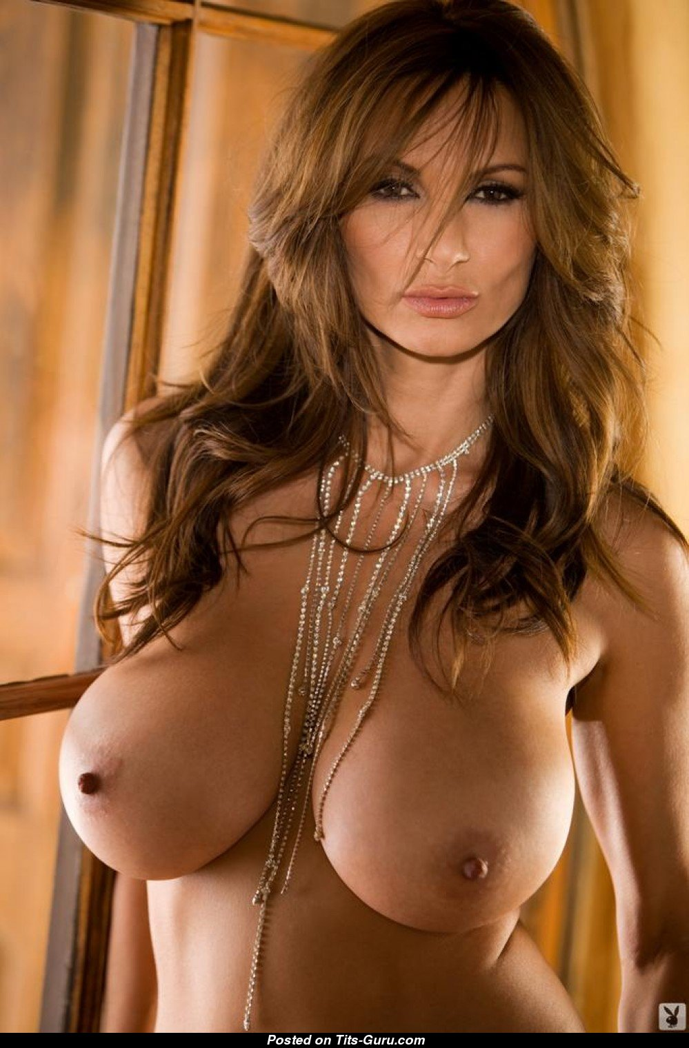 petra verkaik - nude brunette with big breast and big nipples pic