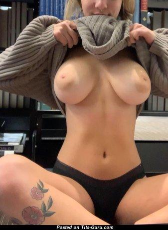Gabbie Carter - Marvelous Blonde with Marvelous Naked Natural Medium Knockers (Porn Photoshoot)