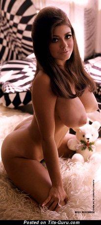 Image. Nude brunette with big breast vintage