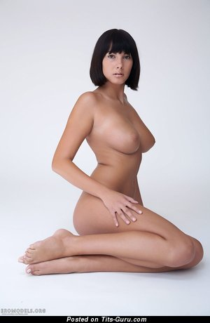 Nude beautiful girl with medium natural boob picture