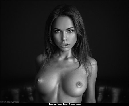 Wonderful Topless Brunette with Wonderful Defenseless Average Breasts & Huge Nipples (Hd Xxx Picture)