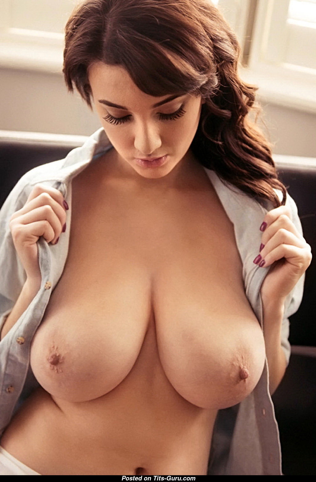 Huge natural breasts nude