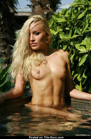 Fascinating Wet Blonde with Fascinating Nude Real Minuscule Boobs (Hd Xxx Image)