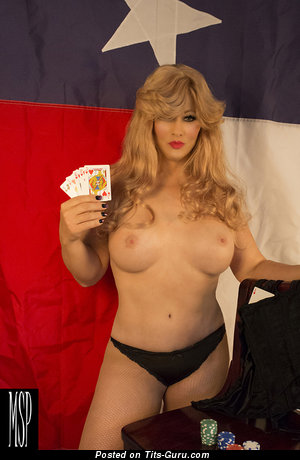 Abigail Rich - Perfect Glamour & Topless Playboy Blonde Cowgirl & Actress with Perfect Bald Real Normal Boob, Large Nipples, Sexy Legs in Panties (Sex Image)